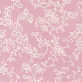 Licht roze stof met bloemtakken-Windham