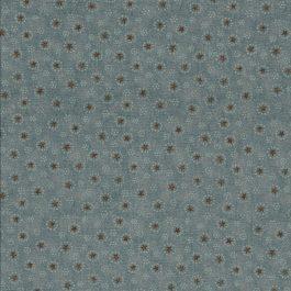 Blauw groene stof met oa bruine sterretjes-Henry Glass