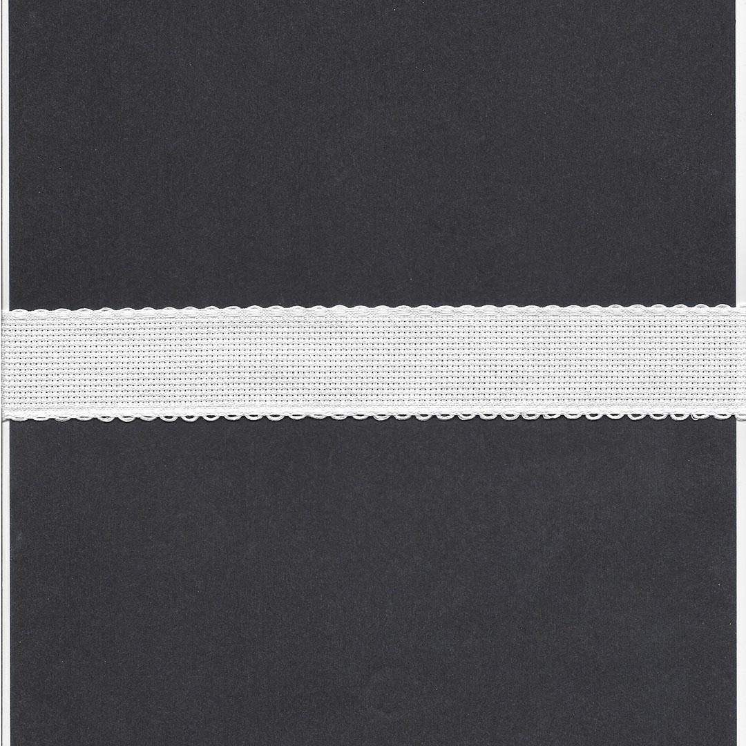 Borduurband Aïda 3cm br. wit 5.4 dr.