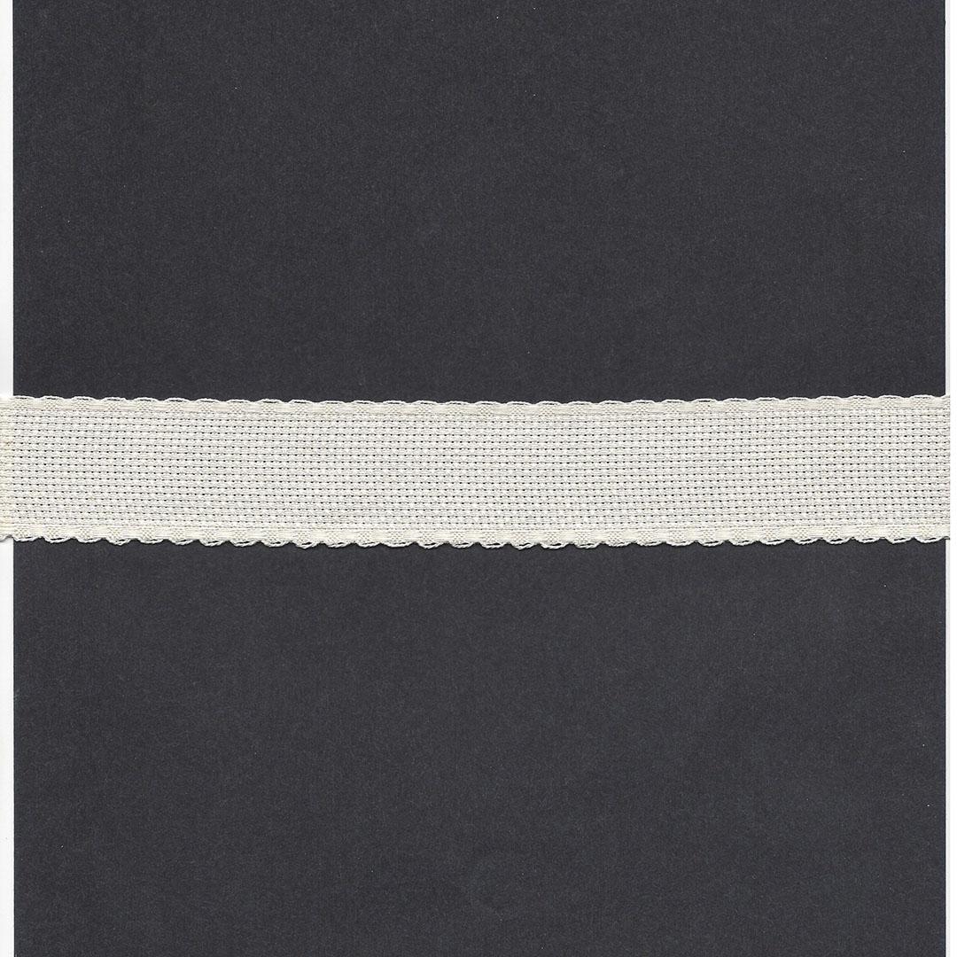 Borduurband Aïda 3cm br. Ecru 5.4 dr.