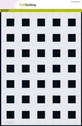 Stencil Sjabloon vierkant 2cm