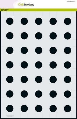 Stencil Sjabloon cirkels 2cm