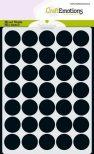 Stencil Sjabloon cirkels 18mm