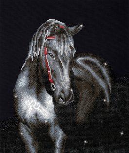 Diamond painting Zwart Paard