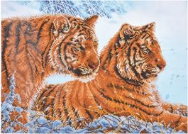 Diamond Dotz Tigers in the Snow Design Size 72 x 52cm