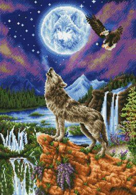 Diamond Dotz Mystic Wolf Design size 47 x 67 cm