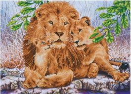 Diamond Dotz Leeuwen Familie