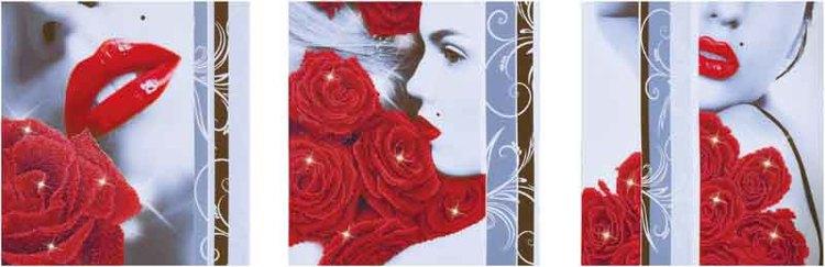 Diamond Dotz Rose Romance Design Size 142 x 47cm