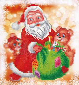 Diamond Dotz Santa & Teddies design size 23 x 25 cm
