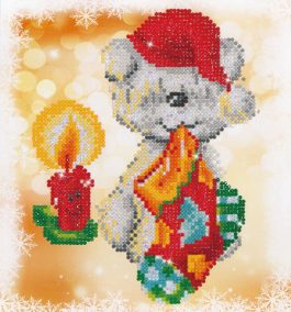Diamond Dotz Puppy Stocking design size 23 x 25 cm
