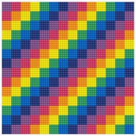 Diamond Dotz Tetris design size 20,3 x 20,3 cm