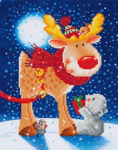 Diamond Dotz Reindeer Gift design size 27 x 35 cm