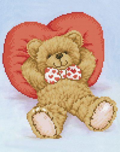 Diamond Dotz Relax-A-Bear design size 28 x 36 cm