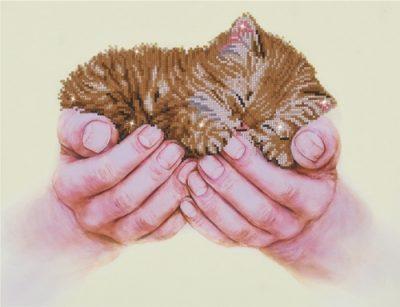 Diamond Dotz Precious Kitten Design Size 52 x 40cm