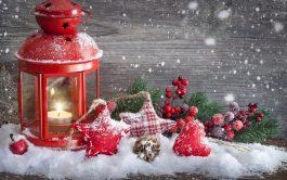 Diamond Painting Kersttafereel Lantaarn 50x70 Ronde steentjes