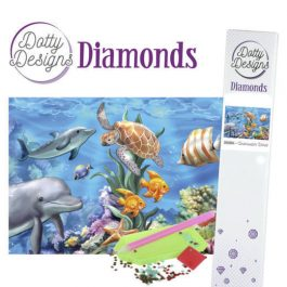 Diamond Painting Onderwater Wereld 25x25 ronde steentjes.