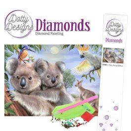 Diamond Painting Koalabeertjes 25x25 ronde steentjes.