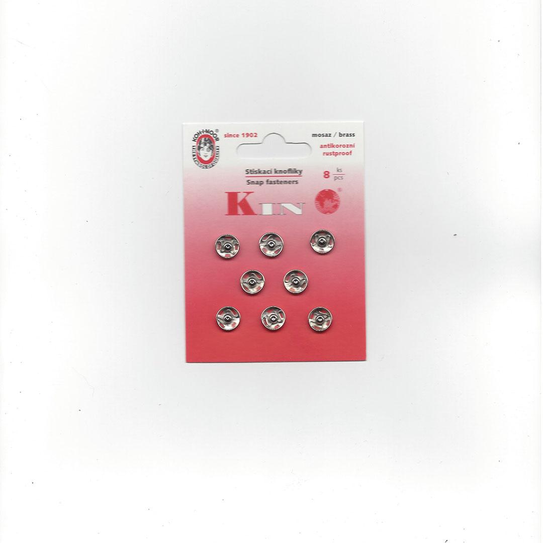 Aannaai Drukknopen 10 mm zilver