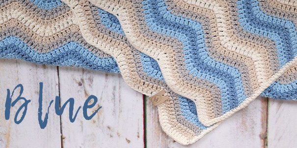 Baby Ripple Blanket Blauw-Durable