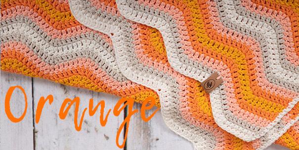 Baby Ripple Blanket Oranje-Durable