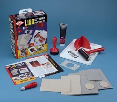 Lino snijden en stempel set