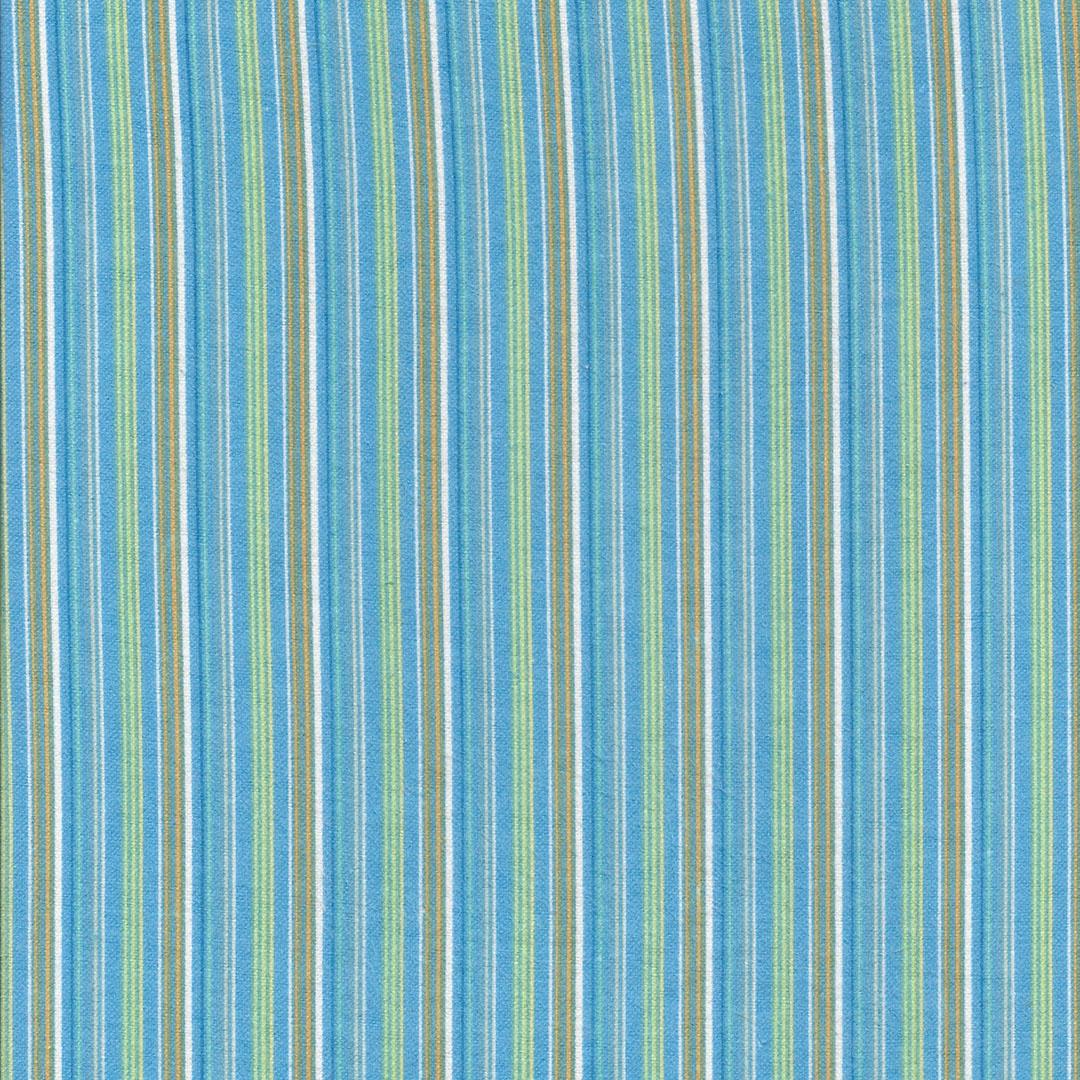 Blauwe flanel streepstof