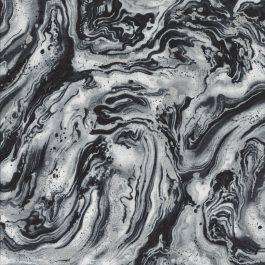 Gemarmerde zwart-wit 2n zilver stof-Hoffman