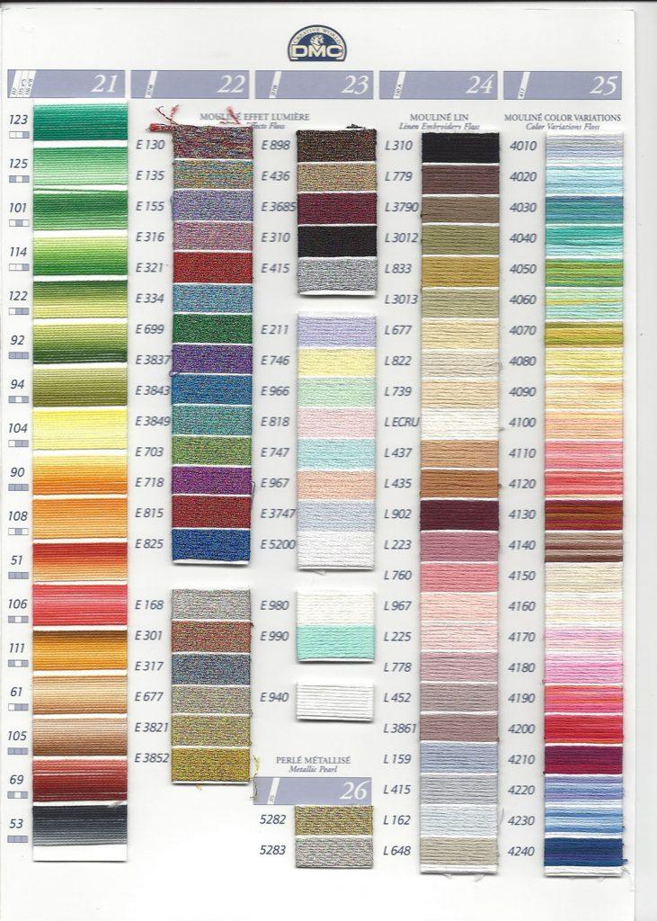 DMC Mouliné Borduurgaren     Klik op de foto voor alle kleuren