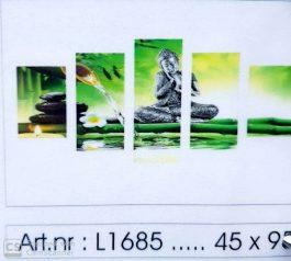 Diamond Painting 5 Luik Boeda 45x95 cm ronde steentjes.