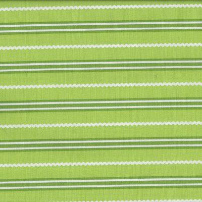 Groene quiltstof met strepen
