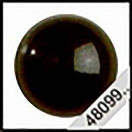 Zwarte Veiligheid Ogen 4 mm. Prijs is per paar