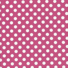 Roze stof met witte stippen-Maywood