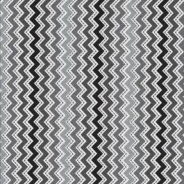 Zwart Grijs en Witte zigzag streep stof