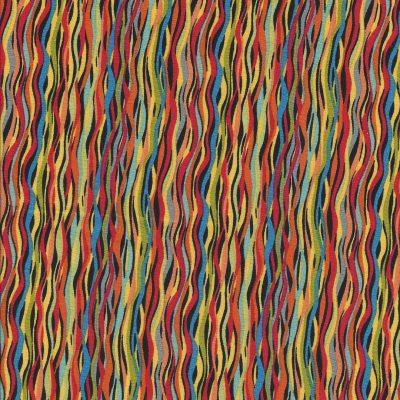 Basic kleurige gebogen streepstof-Makower