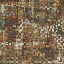 Blokjes stof met o.a. groen bruin en ecru-Northcott