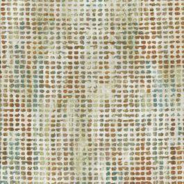 Kleine blokjes stof met o.a. groen bruin oker en ecru-Northcott