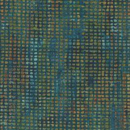 Kleine blokjes stof met o.a. groen bruin en oker-Northcott