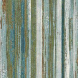 Streepstof met o.a. groen bruin ecru-Northcott