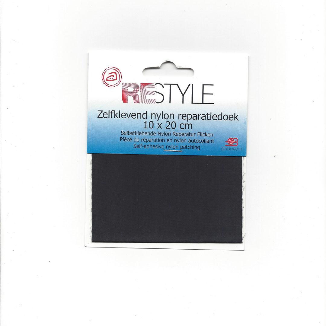 Zelfklevend Nylon Reparatiedoek Zwart