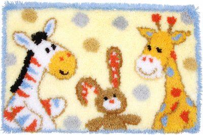 Knoop (wand) tapijt geboorte feestje