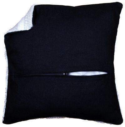 Kussenrug met rits zwart