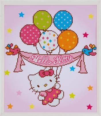 Diamond Painting Hello Kitty with balloons