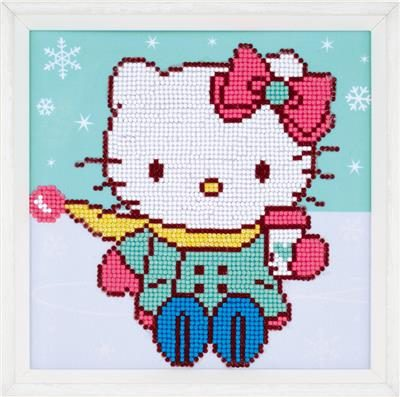 Diamond Painting Hello Kitty in the snow