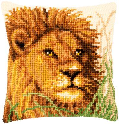 Kruissteekkussen Leeuwenkop