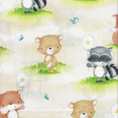 Panel lichtblauw met dieren prints-Studio E
