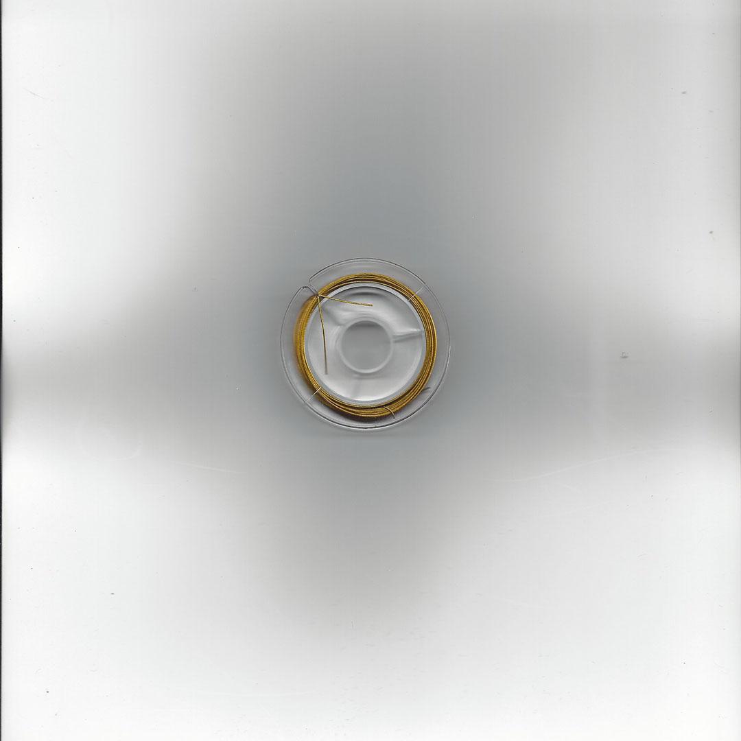 Kralen rijgdraad-gecoat staaldraad goudkleur 0.45 mm