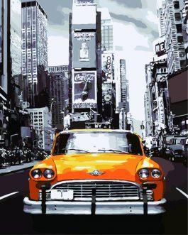 Schilderen op nummer TaxiNew York