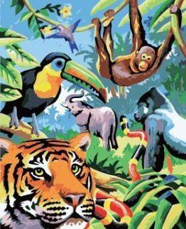 Schilderen op nummer Wilde dieren