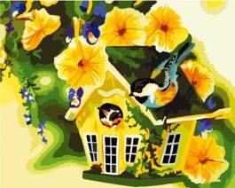 Schilderen op nummer Vogelhuisje