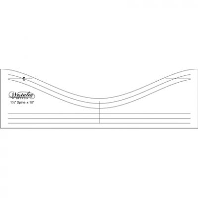 "Westalee 10"" Feather Spine Template Low Shank"